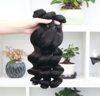 Alinybeauty Wholesale Quality Grade 12A Indian Loose Wave Human Hair Bundles, 30 Inches Cuticle Aligned Loose Wave Brazilian Hair Bundles 1Pcs lot