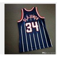 Özel Bay Gençlik Kadınlar Vintage Hakeem Olajuwon Mitchell Ness 96 97 Koleji Basketbol Forması Boyutu S-4XL veya Özel Herhangi Bir Ad veya Numara Forması