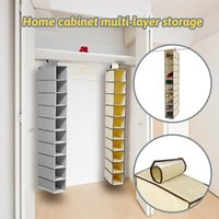 Storage Boxes & Bins 10 Layer Hanging Bag Shoe Drawer Box Shelves Rack Organizer Clothes Wardrobe Closet Door Wall Clear Sundry Hanger Pouch