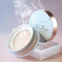 polvo impermeable impermeable sudor duradera natural resaltado acabado suelto ajuste polvos hidratantes cara translúcido maquillaje