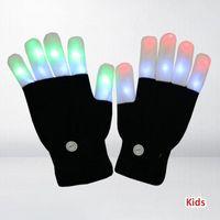 Máscaras de fiesta LED Guantes brillantes Kids Adult Light Light Up Toys Rave Finger Lights 3 colores 6 Modos Flashing Cumpleaños para Boys Girls1