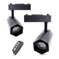 LED Télécommande Spotlight Spotlight 24W Guide de plafond de gradation 85-265V Magasin de vêtements Petite salle d'exposition
