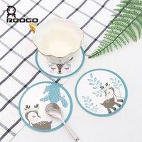 Table Runner Roogo Cup et Soap mat Deer dans la forêt Soft PVC Pads Accueil Office Decoration Decoration Café