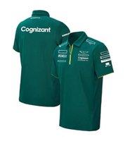 F1 Team Polo Jersey Chemise à manches courtes pour hommes et femmes Polyester séchage rapide de la même personnalisation de style
