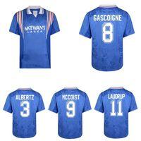 1996 1997 Laudrup Gascoigne Albertz McCoist Retro Soccer Jersey 96 97 Ferguson خمر قمصان كرة القدم الكلاسيكية