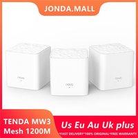 Tenda Nova MW3 Беспроводной Wi-Fi Router AC1200 Весь Домашний Двойной Двойной Двойной Двойной 2,4 ГГц / 5.0 ГГц Ретранслятор Mesh WiFi Система приложения Управляет 210607