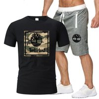 Men's Sports Shorts Suit Breathable Short-sleeved T-shirt Basketball Training Casual Wear 2021 Camouflage Print Tracksuits