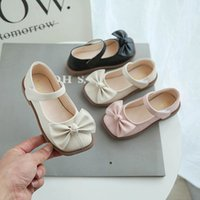 Girls Sneakers Kids Shoes Children Casual Shoe Footwear Leather Moccasins Soft Princess Spring Summer Childrens Bow Wear B7844