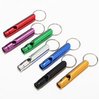 Keyring Keyring de liga de alumínio Mini para sobrevivência de emergência ao ar livre esporte de segurança camping metal assobios