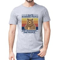 캠핑 베어 나는 아침에 사람들과 아침과 사람들이 싫어하는 사람들의 여름 남성용 코튼 티셔츠 유머 선물 여성 최고 티 3XL 210319