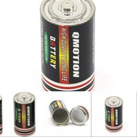 Batterie geheime Vorratsumleitung Pille Box mittlere Größenkraut Tabak Aufbewahrungsgefäß Jar versteckte Geldbehälter 25x49mm Zinklegierung Stash 451 R2