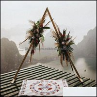 Event Festive Party Supplies Home & Gardenparty Decoration Wrought Iron Triangle Shelf Wedding Arch Geometric Shaped Backdrop Stand Decor Ar