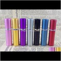 5ml Mini Spray Bottiglia per profumo portatile 5ml Alluminio Alluminio Atomizzatore Atomizzatore Atomizzatore Vetro Viaggio Ricaricabile Contenitore cosmetico Vuoto Nem3Z Mwomx