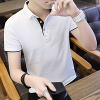 Short sleeve solid color Polo advertising shirt Summer Boys' T-shirt coat men's youth top