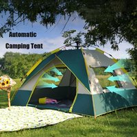 Tents And Shelters 2-4 Person Outdoor Automatic Camping Tent Easy Instant Setup Backpacking Sun Shelter Travelling Hiking Fishing GIFT