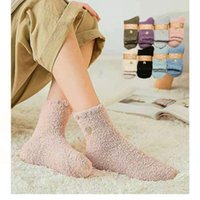 Female Socks coral cashmere winter warm thick gold embroidery love middle tube women's Snowboard sleeping socks