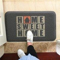 Carpets Sweet Home Door Mats Outdoor Antiwear PU Waterproof Ant-Slip Bathroom Rugs And Plant Printed Hallway Entrance Doormat