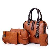 Abendtaschen valenkuci leder schulter umhängetasche tasche bolsa 4 teile / set frauen zusammengesetzt hohe qualität damen handtasche weibliche set