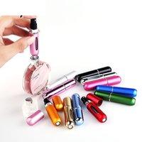 5ml Bottiglia per profumo portatile Mini riutilizzabile umidità cosmetica con bottiglia di atomizzatore spray pompa dello spruzzo per viaggi 13 colori GWF5881