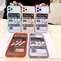 Индивидуальное имя место для печати напечатанные чехлы для телефона для iPhone 12 Mini 11 Pro X XS MAX XR 8 7 6 6S PLUS SE TPU Matte Skin Skee See Fresh Color Frame