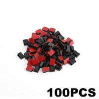 100 parçalı kendinden yapışkanlı kablo klipler tel tutucu kelepçeleri araba veri kablosu organizatör tel yönetim kordon kravat tutucu sabit klipler