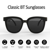 نظارات Bluetooth الذكية الأعلى نظارات شمسية تتقنية الأذن المفتوحة تجعل الأيدي حرة استمتع بحرية سماعات الاتصالات المتنقلة اللاسلكية