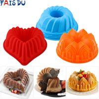قوالب الخبز 3d شكل عشوائي اللون سيليكون كعكة العفن diy الحلوى موس أدوات المطبخ فن أداة نموذج