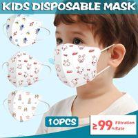 Halloween Cosplay Disposable Mask Baby Face s 3 Layer Kids Cartoon Non Woven Respirator Mascarilla Infantil