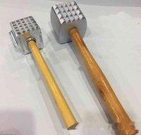 木製ハンドルアルミニウムミートハンマーレストランホテルフライドステーキチキンステーキノックミート