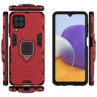 Car Holder Magnet Suction Hybrid Cases For Samsung Galaxy A82 A22 S21 FE Ultra Plus A32 5G A20S Hard PC+TPU+Finger Ring Defender Mobile Phone Back Cover iphone 13 pro max