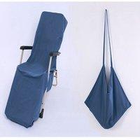 Strandstuhlabdeckung 9 Farben Liegestühle Decken Tragbar mit Gurthandtüchern Doppelschicht Dicke Decke Zze5404
