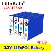 4 STÜCKE Liitokala 3.2V 90AH 100AH 105AH LIFEPO4 Batterieform 12V-Zell-Lithium-Eisen-Phospha kann Bootsauto-Batterien machen