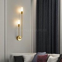 Wall Lamp Modern Led Bedroom Bedside Aisle Corridor Living Room Brass Stair Nordic Sconce Decoration Lighting Fixture