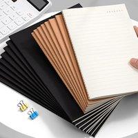 Notepads A4 / A5 / B5 أسود كرافت غطاء يوميات دفتر 80 جرام ورقة اصطف الشبكة المفكرة مخطط أجندة مجلة مكتب اللوازم المدرسية القرطاسية