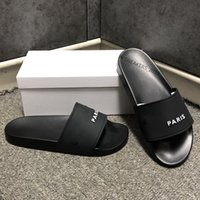 Zapatillas de sandalias de deslizamiento de moda para hombres Mujeres con caja original Diseñador de Hot Designer Unisex Beach Flip Flobs Slipper 2021 Mejor Calidad