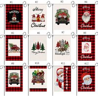 Christmas Garden Flags Double Sided Decorative Santa Claus Snowman Indoor Outdoor Yard Banner Home Decoration SN5863