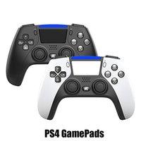PS4 PS5 진동을위한 블루투스 무선 컨트롤러, 소매 상자가있는 로고가없는 플레이 스테이션을위한 게임 패드 게임 핸들 컨트롤러