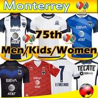 2020 2021 Rayados Monterrey 75th Anniversary Soccer Jersey V.Janssen 9 L. Vangioni 20 21 Monterrey Homens Mulheres Kits Kits Maillot Camiseta de Futbol 20 21 Camisas de Futebol