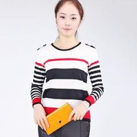Women's Sweaters Han Edition Dress Sets And Striped Sweater Long-sleeved Render A Turtleneck