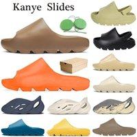 Chanclas Kanye para mujeres, hombres, niños, zapatillas, hueso, tierra, marrón, desierto, arena, plataforma de resina, casa, zapatillas de verano al aire libre con CAJA