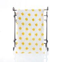 Baby Musslin Bath Bath Towel Infantil Coberturas 2 Camadas 100% Algodão Toalhas Neonatal Criança Infantil Impresso Absorver Blanket Swaddle GWB7128