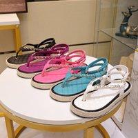 2021 Mode Femmes Sandales Été Gladiateur Casual Appartements Chaussures Dames Pêcheur Sandal Femme Femme Designer Pantoufles Respirant et confortable
