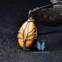 Дерево Жизнь Драгоценный камень Тэнокроп Ожерелье Заживление Кристалл Чакра Ювелирные Изделия