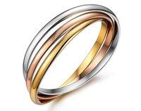 Designer bracelet high quality titanium steel love jewelry tricolor ladies bangle for modern women gift with velvet bag