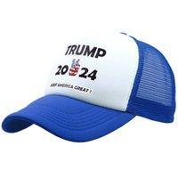 ترامب 2024 قبعة الصيف صافي قبعة البيسبول إبقاء أمريكا الكبرى الأميركية snapbacks قناع قبعات حزب القبعات GWF5872