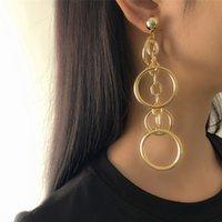 Fashion Statement Earrings Large Geometric Earrings For Women Hanging Dangle Earrings Drop 2021 Modern Female Jewelry
