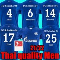 Thai Quality Thai Qualità 21 22 Schalke 04 Soccer Jerseys 2021 2022 Casa Away Uth Ozan Harit Raman Serdar Kucucu Matondo Camicie da calcio Uomo New Schalke 04 maglie