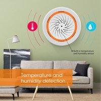 Smart Home Control Tuya Temperature System Zigbee Humidity Sensor Built-in Siren Alarm 3 In 1 90DB Sound Light new
