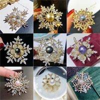 Szpilki, Broszki Luksusowe Cyrkon Zima Snowflake Broszka Pin Dla Kobiet Dress Pins Bridal Biżuteria Ślubna Boże Narodzenie Gift Broches Mujer
