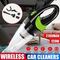 Aspiradora de automóviles inalámbrico húmedo y seco de mano húmeda y seca portátil de alta potencia ciclón recargable recargable USB cobrando para el cabello de la mascota del vehículo